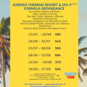 ISCHIA : Formula Depandance  Sorriso Thermae Resort & Spa 4****  Copia